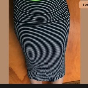 Women's size small striped pencil skirt
